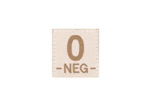 0 Neg Bloodgroup Patch Desert