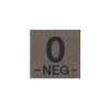 0 Neg Bloodgroup Patch RAL7013