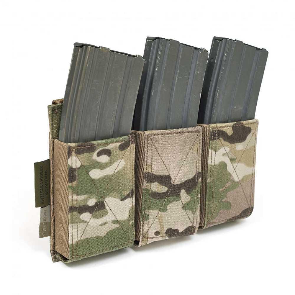 Warrior Triple Elastic Mag Pouch Multicam