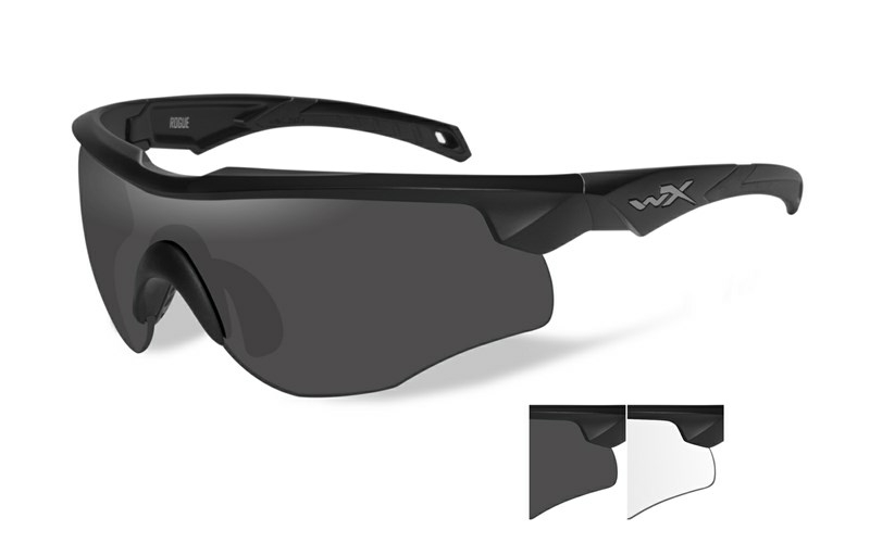 Wiley X ROGUE Grey/Clear Matte Black Frame