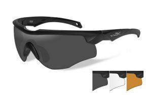 Wiley X ROGUE Grey/Clear/Light Rust Matte Black Frame