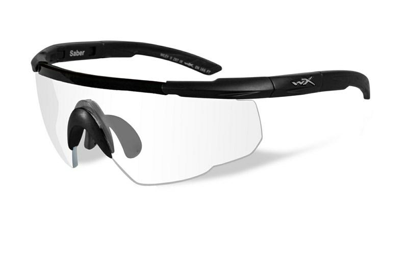 Wiley X SABER ADV. Clear Matte Black Frame w/Bag