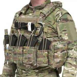 Warrior Triple Open AK7.62MM Pouch MULTICAM