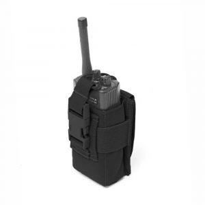 Warrior Adjustable Radio Pouch Black