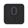 Bloodtype Square Rubber Patch 0 Neg