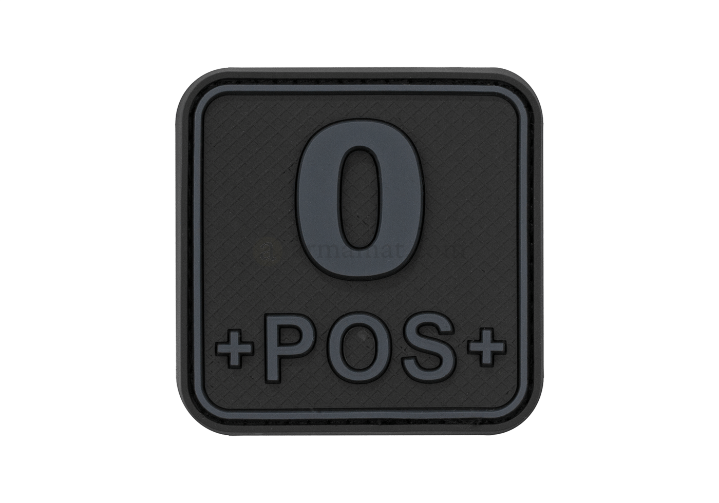 Bloodtype Square Rubber Patch 0 Pos