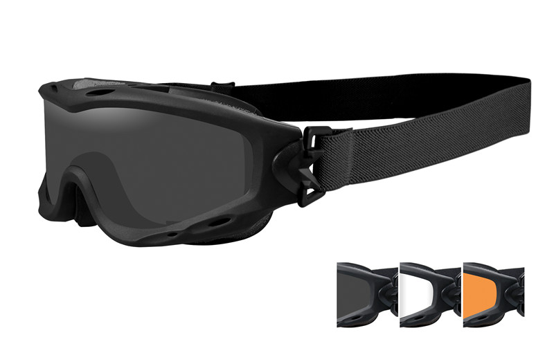 Wiley X SPEAR Smoke/Clear/Light Rust Matte Black Frame