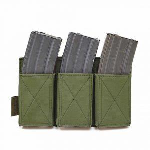 Warrior Triple Elastic Mag Pouch Olive Drab