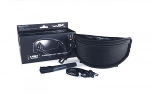Wiley X SABER ADV Smoke/Clear/Rust Tan Frame