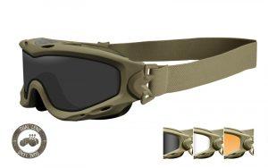 Wiley X SPEAR Dual Smoke/Clear/Rust Tan Frame