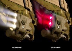 Surefire Helmet Light LEDs — 3 White, 2 Red, 1 Infrared IFF - Tan